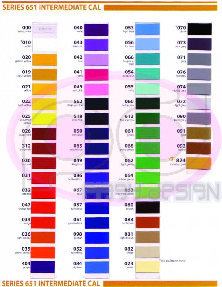Oracal Color Chart Bogasrdenstaging