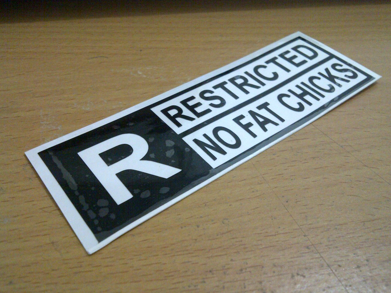 Jdm style sticker restricted fat chicks restricted fat chick 10x3cm 7rb