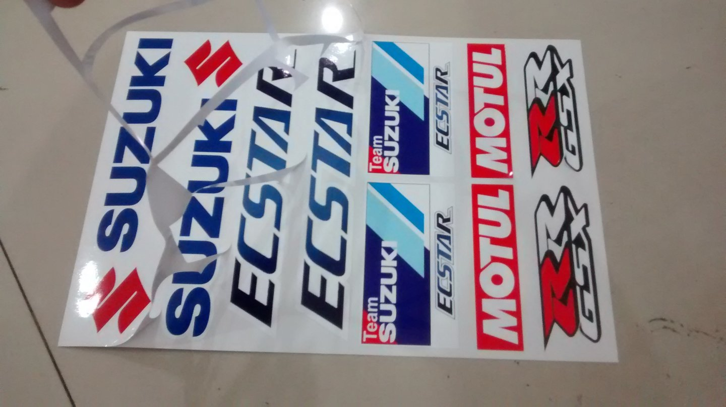 Sticker Set Suzuki Biker Decal Piggy Sticker